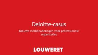 Deloitte-casus