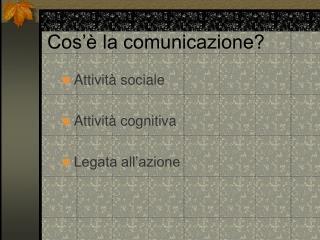 Cos   la comunicazione