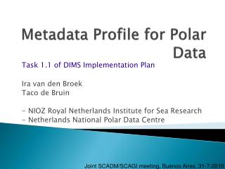 Metadata Profile for Polar Data