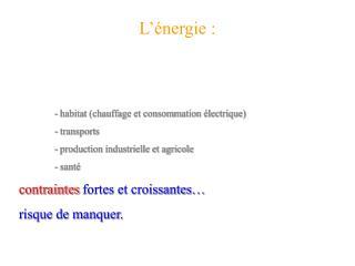 L  nergie :