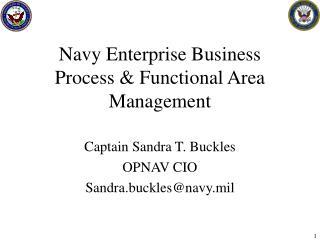 Navy Enterprise Business Process  Functional Area Management
