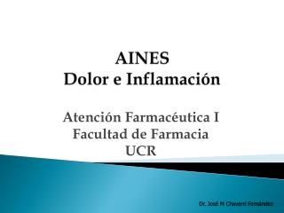 AINES Dolor e Inflamaci n