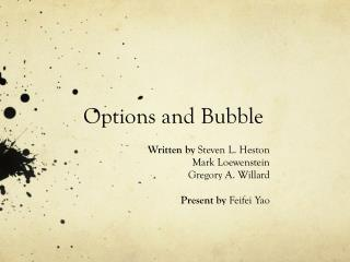 Options and Bubble