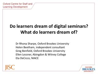 Do learners dream of digital seminars? What do learners dream of?