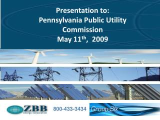 Example Presentation April 2008