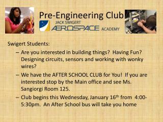 Pre-Engineering Club