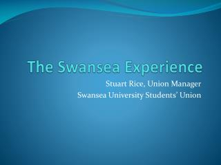 The Swansea Experience