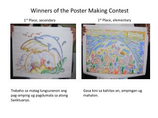 Winners of the Poster Making Contest
