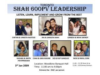 SHAH 600PV LEADERSHIP