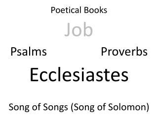 Poetical Books
