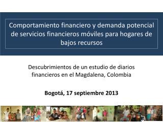Descubrimientos de un estudio de diarios financieros en el Magdalena, Colombia