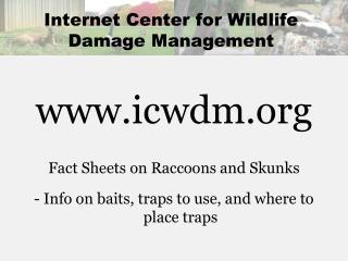 Internet Center for Wildlife Damage Management