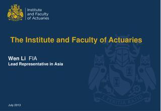 Wen  Li   FIA Lead Representative in Asia