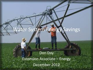 Water System Energy Savings