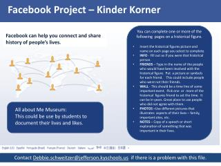 Facebook Project –  Kinder Korner