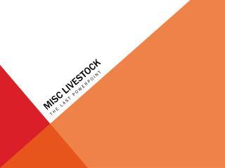 Misc  Livestock