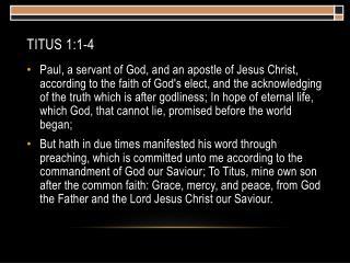 Titus 1:1-4