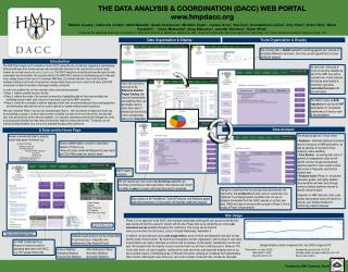 THE DATA ANALYSIS & COORDINATION (DACC) WEB PORTAL www.hmpdacc.org