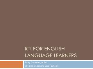 RTi for English Language learners
