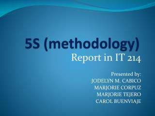5S ( methodology )