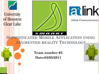 Smaart Sophisticated Mobile Application using Augmented reality Technology