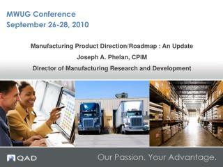 MWUG Conference September 26-28, 2010