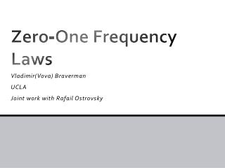 Zero-One Frequency Laws
