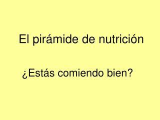 El pirámide de nutrición
