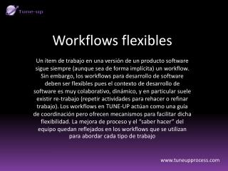 Workflows flexibles en TUNE-UP