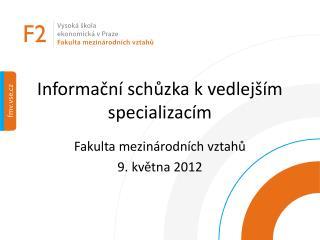 Informační schůzka k vedlejším specializacím