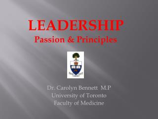 Dr . Carolyn Bennett   M.P University of Toronto Faculty of Medicine