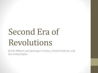 Second Era of Revolutions