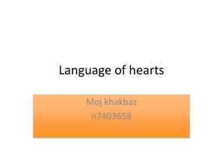 Language of hearts