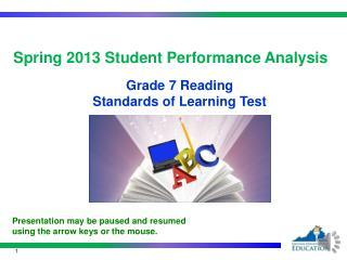 Spring  2013  Student Performance  Analysis