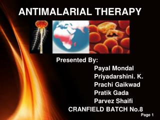 ANTIMALARIAL THERAPY