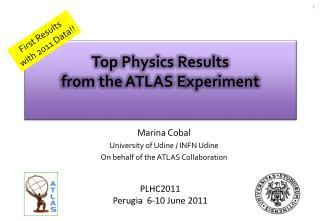 Top  Physics Results from the ATLAS  E xperiment