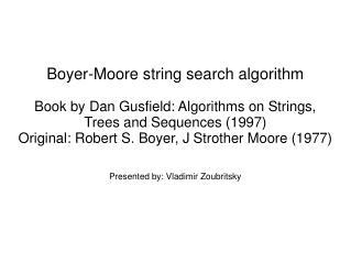 Boyer-Moore string search algorithm