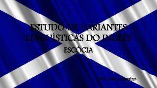ESTUDO DE VARIANTES LINGUÍSTICAS DO INGLÊS