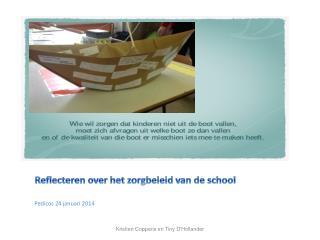 Reflecteren over het zorgbeleid van de school