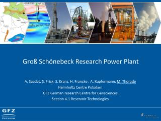 Gro� Sch�nebeck Research Power Plant