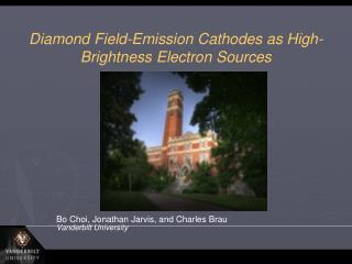 Diamond Field-Emission Cathodes as High-Brightness Electron Sources