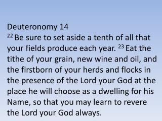 Deuteronomy 14