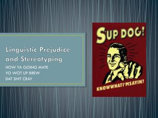 Linguistic Prejudice and Stereotyping
