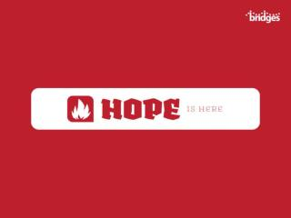 HOPE DEFINED :  A wish or desire accompanied by confident expectation of its fulfillment.