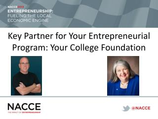Key Partner for Your Entrepreneurial Program: Your College Foundation