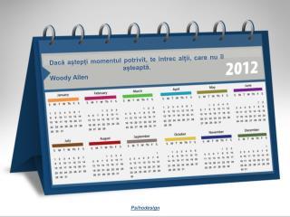 Calendar inspirational 2012