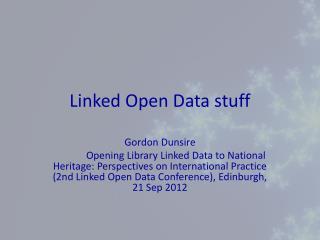 Linked Open Data stuff