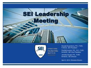 SEI Leadership Meeting