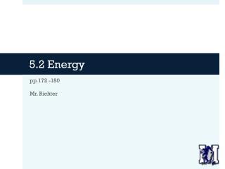 5.2 Energy