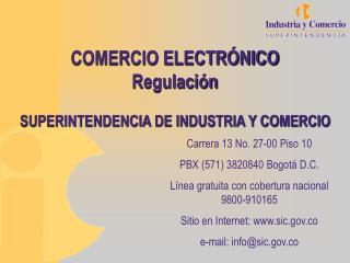 COMERCIO ELECTR NICO REGULACI N
